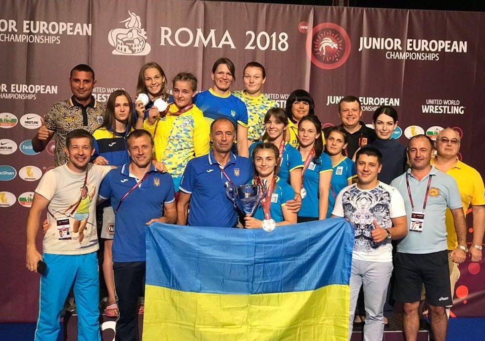 Чемпіонат Європи серед юніорів – результати, ЖІНОЧА БОРОТЬБА