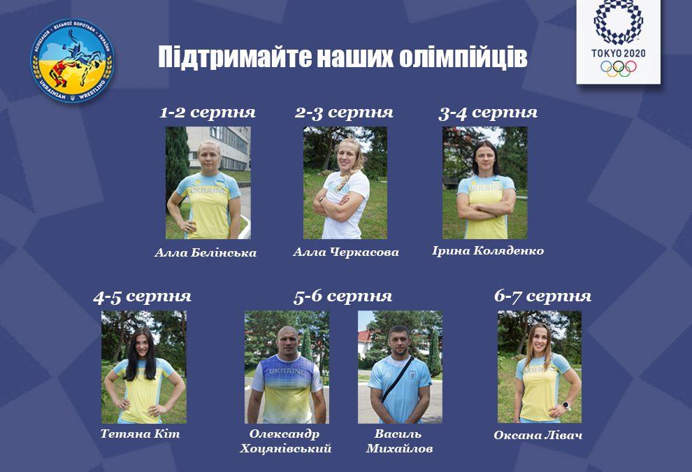 Олімпіада – Програма виступів українських вільників