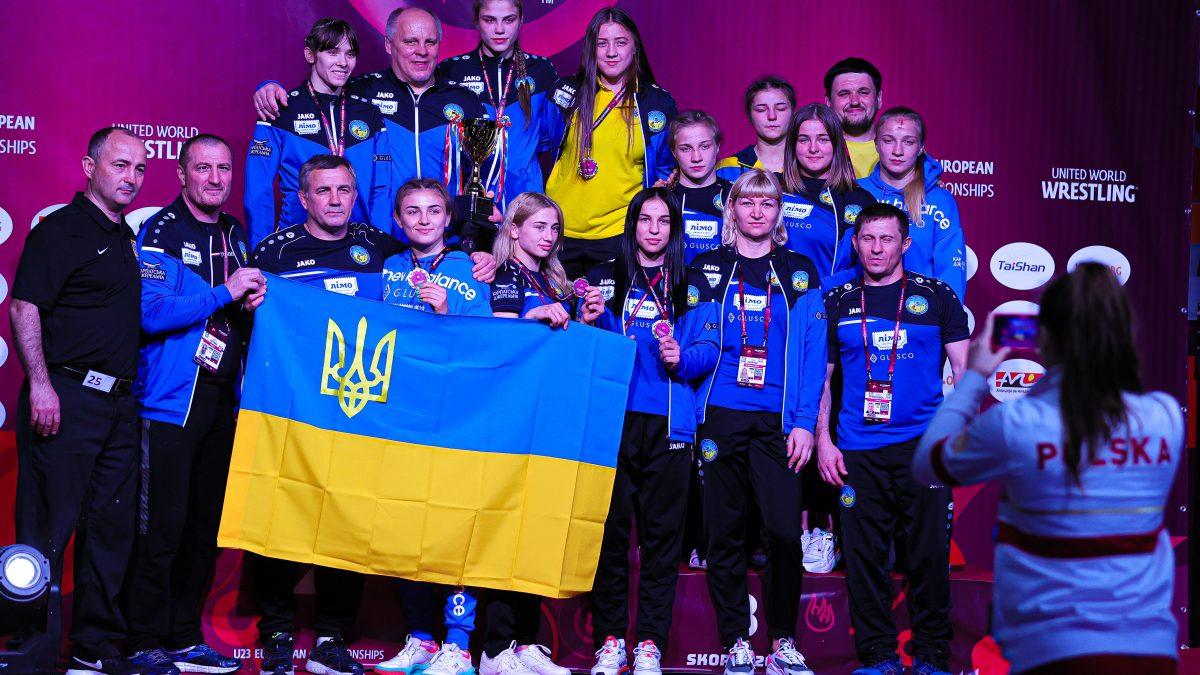 Жіноча збірна України перша в командному заліку на ЧЄ U23. ФОТО